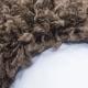 Shaggy Teppich LIFE 1500 BRAUN 80 x 80 cm Rund