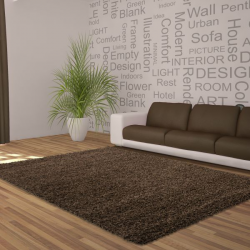 Tapis Shaggy Deluxe Tapis DREAM SHAGGY 4000 MARRON 60 x 550 cm Coureur