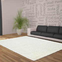 Shaggy Deluxe Teppich Teppich DREAM SHAGGY 4000 CREAM 120 X 120 cm Rund