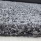 Shaggy Deluxe Teppich Teppich DREAM SHAGGY 4000 GRAU 80 x 80 cm Rund