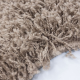 Tapis Shaggy Deluxe Tapis DREAM SHAGGY 4000 MOCCA 80 x 80 cm Ronde