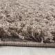 Shaggy Deluxe Teppich Teppich DREAM SHAGGY 4000 MOCCA 80 x 80 cm Rund