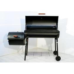 Smoker BBQ Grill Grillwagen Holzkohlegrill 95cm Rost, 160 x 124 x 70 cm XXL 57kg