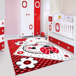 Tapis Enfant HAPPY 1801 ROUGE 200 x 290 cm