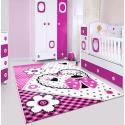 Kinder Teppich HAPPY 1801 PINK 80 X 150 cm Teppichläufer