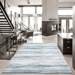 Hochwertiger 3D Teppich SULTANA 2300 BLAU 200 x 290 cm