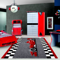 Tapis Enfant HAPPY 1805 ROUGE 200 x 290 cm