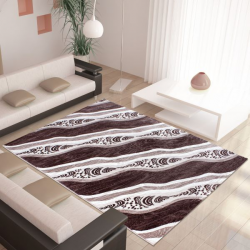Moderner Teppich MIAMI 6530 BRAUN 80 X 300 cm Teppichläufer