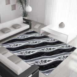 Moderner Teppich MIAMI 6530 SCHWARZ 120 X 170 cm