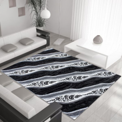 Moderner Teppich MIAMI 6530 SCHWARZ 200 x 290 cm