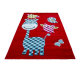 Tapis Enfant HAPPY 1806 ROUGE 200 x 290 cm
