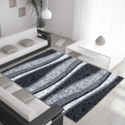 Moderner Teppich MIAMI 6540 SCHWARZ 80 X 300 cm Teppichläufer