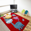 Tapis Enfant HAPPY 1806 ROUGE 120 X 170 cm