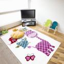 Kinder Teppich HAPPY 1806 WEISS 160 x 230 cm