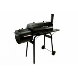 BBQ Grill Smoker Grillwagen Holzkohlegrill 2 Kammern Barbecue
