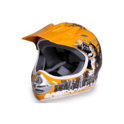 X-treme Kinder Cross Helm Design 2016 - gelb