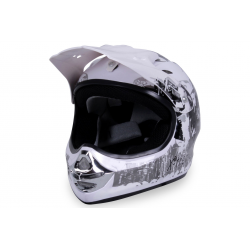 X-treme Kinder Cross Helm Design 2016 - Weiß
