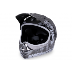 X-treme Kinder Cross Helm Design 2016 - Grau-Matt