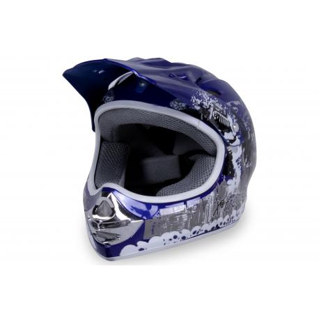 X-treme Kinder Cross Helm Design 2016 - BLAU