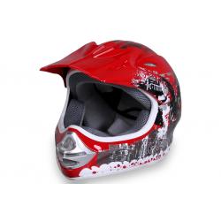 Casque Cross Moto enfant X-Treme Sport ROUGE