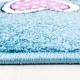 Kinder Teppich HAPPY 1806 BLAU 80 X 150 cm Teppichläufer