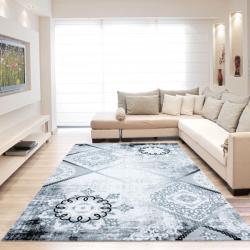 Hochwertiger Teppich Safranbolu M4501 Grau 80x300cm