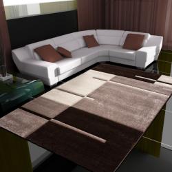 Moderner 3D Teppich HAWAII 1310 BRAUN 80 X 150 cm Teppichläufer