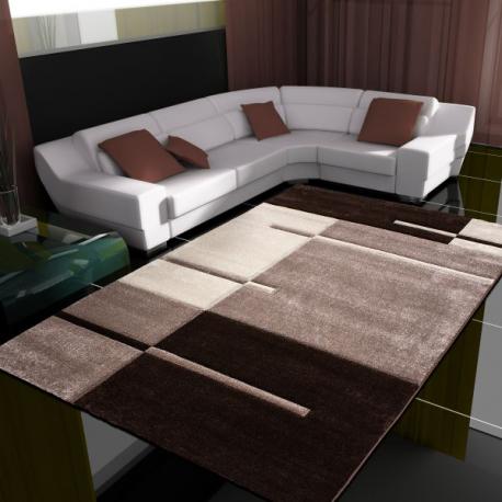 Moderner 3D Teppich HAWAII 1310 BRAUN 80 X 300 cm Teppichläufer