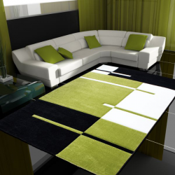 Moderner 3D Teppich HAWAII 1310 GRÜN 80 X 300 cm Teppichläufer