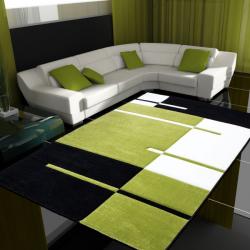 Moderner 3D Teppich HAWAII 1310 GRÜN 200 x 290 cm