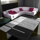 Moderner 3D Teppich HAWAII 1310 GRAU 80 X 300 cm Teppichläufer