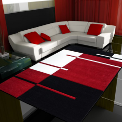 Moderner 3D Teppich HAWAII 1310 ROT 120 X 170 cm