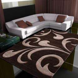 Moderner 3D Teppich HAWAII 1320 BRAUN 80 X 150 cm Teppichläufer