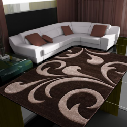 Tapis Modern 3D HAWAII 1320 MARRON 80 X 150 cm Coureur