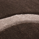 Tapis Modern 3D HAWAII 1320 MARRON 80 X 300 cm Coureur