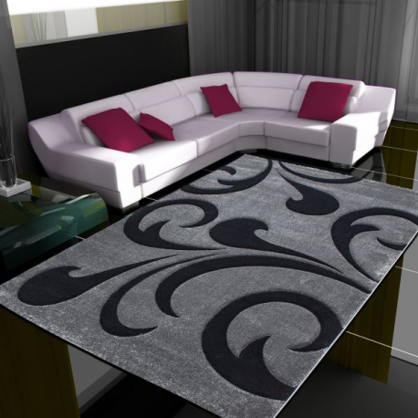 Moderner 3D Teppich HAWAII 1320 GRAU 120 X 170 cm