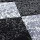 Moderner 3D Teppich HAWAII 1330 SCHWARZ 80 X 150 cm Teppichläufer