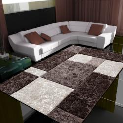 Moderner 3D Teppich HAWAII 1330 BRAUN 80 X 150 cm Teppichläufer