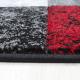 Tapis Modern 3D HAWAII 1330 ROUGE 80 X 150 cm Coureur