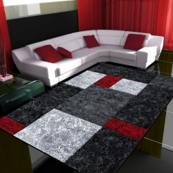 Tapis Modern 3D HAWAII 1330 ROUGE 80 X 300 cm Coureur